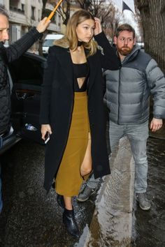 Gigi Hadid out in Paris, January 22, 2016.