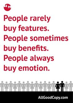 A quote about what makes people buy.