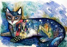 chat hiver by oxana zaika | ArtWanted.com
