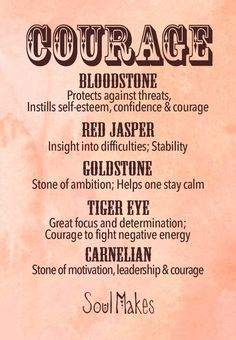 °Courage stone collection information card by SoulMakes