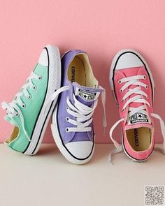 4. #Pastel Converse - 25 #Gorgeous #Shoes to #Trade Your Winter Boots for ... → Shoes #Boots