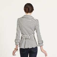 Striped Bow Jacket: Would look perfect with a navy dress or chinos for the transition into Spring from Winter