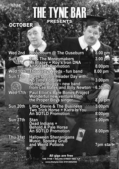 The-Tyne-Bar-Gigs-October-2013