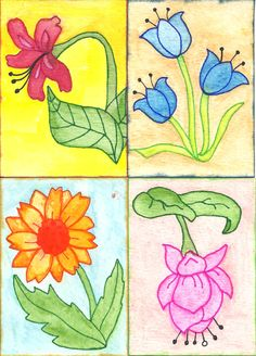 Flower Swap ATCs by Tammy L. Sexton