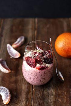 Blood Orange Chia Seed Pudding recipe #vegan #breakfast #snack