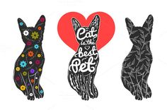 Set with cats by julymilks on Creative Market