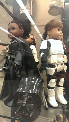 Handmade American Girl Star Wars costumes.  I NEEDED THIS AS A CHILD!