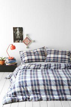 4040 Locust Yarn Dye Plaid Duvet Cover