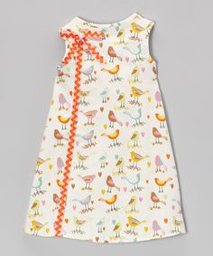 Look at this CyBaby White Birdsong A-Line Dress - Infant & Toddler on #zulily today!