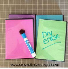 Classroom DIY: DIY Upcycled Dry Erase Board as seen Kindergarten Klub  www.kindergartenklub.com