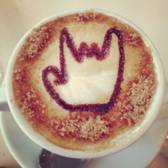 Pronti per affrontare la nuova giornata! \m/ #rock #coffee #cappuccino #empitalia