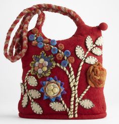 Bouquet Felt Purse