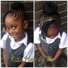 Cute Imani😍😍 Natural Look Extensions Kids are just kids and look like kids - Best Cornrow Hairstyles Lil Girl Hairstyles, Girls Natural Hairstyles, Natural Hairstyles For Kids, Kids Braided Hairstyles, Hairstyle Braid, Nice Hairstyles, Toddler Hairstyles, School Hairstyles, African Hairstyles