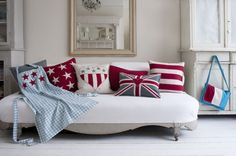 In love with this Union Jack flag pillow!
