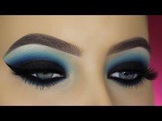 Blue Smokey Eyes Tutorial - YouTube