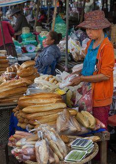 French Baguettes Bread, Pakse, Laos http://viaggi.asiatica.com/