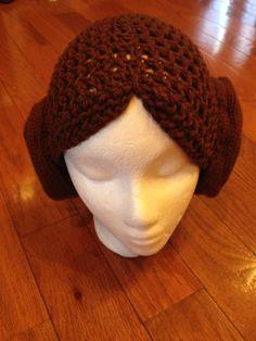 Princess Leia Star Wars Crochet Beanie Skullcap by passion4craftin, $15.00