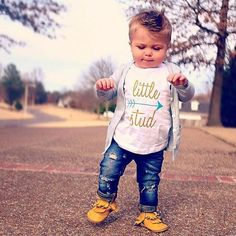 LITTLE STUD Boys /Kids Graphic TShirt / by CitizenBeachApparel