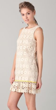 Juicy Couture Daisy Guipure Dress - 100% cotton Guipure lace.  So dainty and lovely.