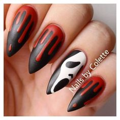 Are you looking for easy Halloween nail art designs for October for Halloween party? See our collection full of easy Halloween nail art designs ideas and get inspired! Ongles Gel Halloween, Cute Halloween Nails, Halloween Nail Designs, Diy Halloween, Halloween City, Halloween Recipe, Halloween Halloween, Women Halloween, Halloween Decorations