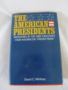Vintage Original 1969 edition The American Presidents by David C Whitney $19.99 #thecraftstar #vintage #book #presidents #whitney #1969
