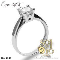 Si te gusta separalo ya! http://soldeorojoyeria.com/shop/anillosdecompromiso/anillo-de-compromiso-en-oro-14k-71/