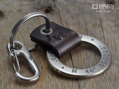 Hey, I found this really awesome Etsy listing at https://www.etsy.com/listing/166424185/personalized-mens-key-chain-latitude