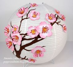 Popper and Mimi Paper Crafts: Cherry Blossom Chinese Lantern and Inking Edges Video Tutorial
