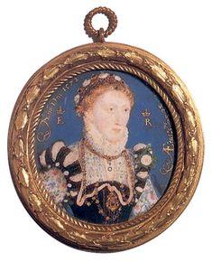 A portrait miniature of Queen Elizabeth I by Hilliard, circa Los Tudor, Tudor Era, Tudor History, British History, Uk History, Victoria And Albert Museum, Adele, Enrique Viii, Isabel I
