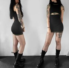 pic by @ryhlana Grunge, Rock, Shirt Dress, T Shirt, Combat Boots, Cap, Outfits, Dresses, Fashion