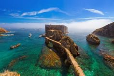 Portugal Day Trips Tips Berlenga Islands - Portugal/Lisbon - Travel Road Trip Portugal, Portugal Vacation, Portugal Travel, Places To Travel, Places To See, Travel Destinations, Day Trips From Lisbon, Reisen In Europa, Voyage Europe