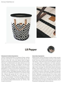 Our laundry bags got featured in the actual issue of ART AUREA. Art Aurea is a magazine for art-loving people who like outstanding things and objects from renowned, international artists, ateliers and manufactories. The article is a portrait of seven designers who live abroad and manufacture their designs in cooperation with local specialists. Laundry Bags, International Artist, Love People, Drawing, Pepper, Objects, Designers, Lily, Magazine