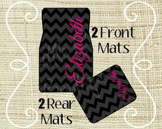 Personalized Car Mats Car Mats Custom Car Mat by HaveFaithBoutique Truck Accesories, Car Accessories, Car Tags, Travel Supplies, Truck Decals, Personalized Coasters, Jeep Cars, Car Floor Mats, License Plate Frames
