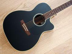 2008 Takamine Acoustic Guitar Black w/ Preamp & Case Japan Exclusive - Guitar - Ideas of Guitar Martin Acoustic Guitar, Acoustic Guitar For Sale, Mike And Mike, Home Studio Music, Guitars For Sale, Japan, Black, Ideas, Guitars