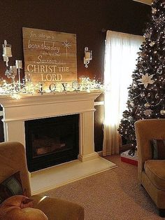 Beautiful Christmas Fireplace