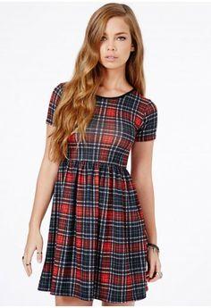 Tartan Skater Dress on shopstyle.co.uk