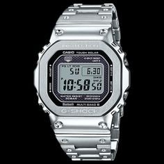 44e1b69d85d Casio g-shock 35th anniversary full metal silver limited edition watch  gmwb5000d-1d. Silver Steel