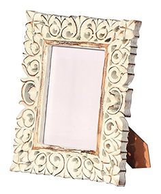 souvnear hand carved shabby chic white washed photo picture frame aud liked on polyvore featuring home home decor frames frames whitewashed frames - Whitewashed Picture Frames