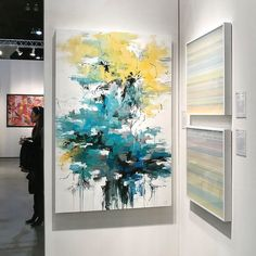 """""""Sailing out of Coconut Grove"""" with Stop by if you are in So Cal. Abstract Wall Art, Abstract Landscape, Landscape Design, Yellow Canvas Art, Art Beat, Arte Popular, Abstract Flowers, Large Art, Lovers Art"""