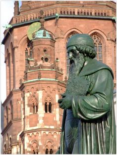 MAINZ (GERMANY): The statue of the Gutenberg Memorial was unveiled in 1837.