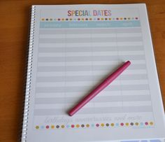 special-dates-printable