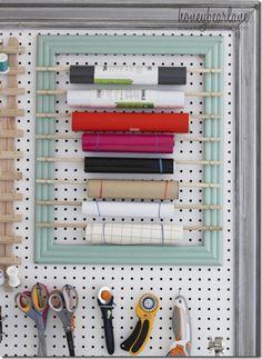 vinyl-organization-Honeybear Lane.  Organizer for my paper rolls?