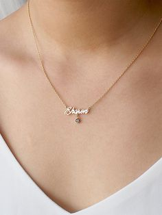 Diamond Solitaire Necklace/ Diamond Chain/ Diamond By The Station Micro Prong Diamond Necklace/ Dainty Diamond Solitaire Necklace - Fine Jewelry Ideas Diamond Cross Necklaces, Gold Bar Necklace, Diamond Solitaire Necklace, Lariat Necklace, Diamond Pendant, Danty Necklace, Necklace Charm, Necklace Price, Fashion Necklace