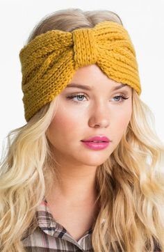 this cozy headband look is super cute for chilly football games or nights by the bonfire. you can get them at Nordstrom OR make them out of an old sweater on your own!