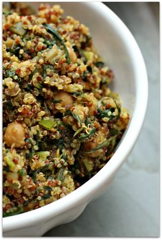 Quinoa with Chard and Chickpeas - yummyness!