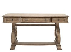 The Celeste writing desk sets a stunning example for a classy, work-from-home space. Its sophistication and timelessness can be attributed to details like the dramatic scroll legs. The light wood finish is enriched by white oak veneers in a cathedral pattern while the squared corners provide a stylish finishing touch. Best of all, this piece provides a drop-down keyboard drawer. Home Office Chairs, Home Desk, Office Decor, Office Setup, Office Ideas, Chesapeake House, Desk With Keyboard Tray, Writers Desk, Liberty Furniture