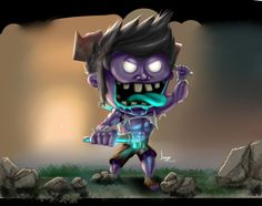 League of Legends: Dr Mundo Chibi by jorgux