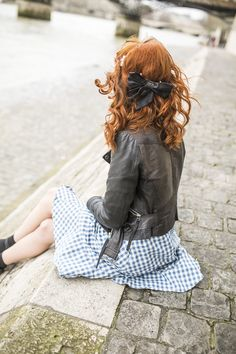 black bow & ginger hair