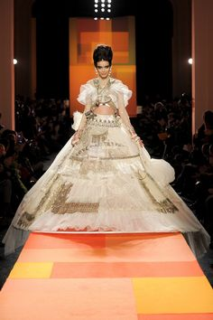 The finale dress at Jean Paul Gaultier haute couture Spring/Summer 2013