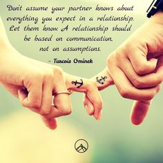 @summitmigration posted to Instagram: Don't assume your partner knows about everything you expect in a relationship. Let them know. A relationship should be based on communication, not on assumptions.  ~ Turcois Ominek  #relationshipadvice #relationship101 #relationship_goals #relationshipadvise #realtalk #partner4life #partnership #partnerships #partnershipgoals #partnershipthatworks #partnershipsmatter #partnershipsthatwork #letthemknow #letthemknowyoucare #communicate… Relationship Advice, Real Talk, Communication, Let It Be, Tips, Instagram, Relationship Tips, Communication Illustrations, Counseling